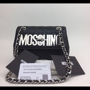 Moschino Small Letters' Quilted Leather bag